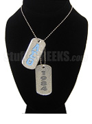 Alpha Sigma Theta Double Dog Tags - Double with Founding Year