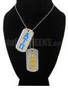 Alpha Tau Omega Double Dog Tags - Double with Founding Year