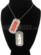 Beta Theta Pi Dog Tags - Double with Founding Year