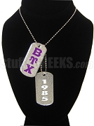 Beta Upsilon Chi Double Dog Tag - Double with Founding Year
