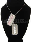 Chi Delta Theta Double Dog Tag  - Double with Founding Year