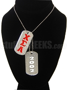 Chi Sigma Alpha Double Dog Tag - Double with Founding Year