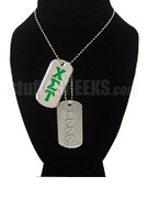 Chi Sigma Tau Double Dog Tags - Double with Founding Year