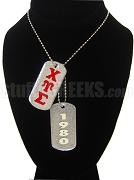 Chi Upsilon Sigma Double Dog Tag - Double with Founding Year