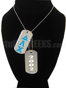 Delta Lambda Chi Double Dog Tag - Double with Founding Year