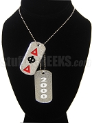 Delta Phi Delta Double Dog Tag - Double with Founding Year