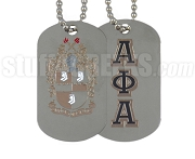Alpha Phi Alpha Dog Tags, Silver