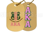 Alpha Kappa Alpha Dog Tags, Gold