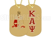 Kappa Alpha Psi Dog Tags, Gold