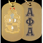 Alpha Phi Alpha Dog Tags, Gold