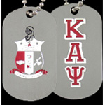 Kappa Alpha Psi Dog Tags, Silver