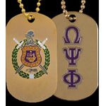 Omega Psi Phi Dog Tag, Gold