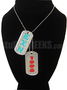 Epsilon Chi Nu Double Dog Tag - Double with Founding Year