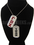 Gamma Beta Chi Double Dog Tag - Double with Founding Year