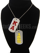 Kappa Alpha Order Dog Tags - Double with Founding Year