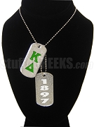 Kappa Delta Dog Tags - Double with Founding Year