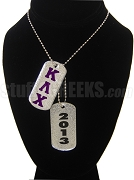 Kappa Lambda Chi Double Dog Tag - Double with Founding Year