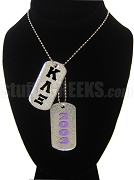 Kappa Lambda Xi Double Dog Tag - Double with Founding Year