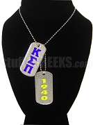 Kappa Sigma Pi Double Dog Tag - Double with Founding Year