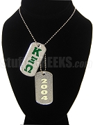 Kappa Xi Omega Double Dog Tag - Double with Founding Year