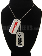 Knights Fraternity, Inc. Dog Tags - Double with Founding Year