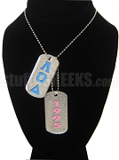 Lambda Omicron Delta Double Dog Tag - Double with Founding Year