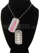 Lambda Sigma Pi Double Dog Tag - Double with Founding Year