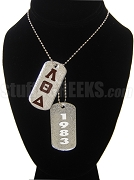 Lambda Theta Delta Double Dog Tag - Double with Founding Year