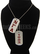 Nu Gamma Alpha Double Dog Tag - Double with Founding Year