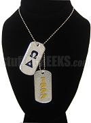 Omega Delta Double Dog Tag - Double with Founding Year