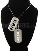 Omega Phi Zeta Double Dog Tag - Double with Founding Year