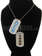 Omega Sigma Psi Double Dog Tag - Double with Founding Year