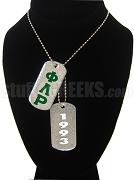 Phi Lambda Rho Double Dog Tag - Double with Founding Year