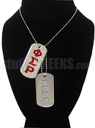 Phi Sigma Rho Double Dog Tag - Double with Founding Year