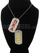 Pi Kappa Alpha Double Dog Tag - Double with Founding Year