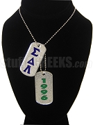 Sigma Delta Lambda Double Dog Tag - Double with Founding Year