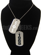 Swing Phi Swing Dog Tags - Double with Founding Year