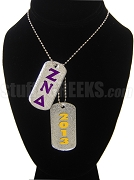 Zeta Nu Delta Double Dog Tag - Double with Founding Year