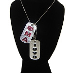 Phi Mu Alpha Double Dog Tags