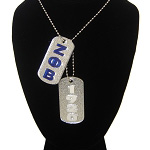 Zeta Phi Beta Double Dog Tag