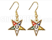 OES Fatal Star Earrings, Gold