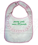 Pretty Girls Wear 20 Pearls Alpha Kappa Alpha Bib