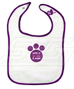 Pretty in Hot Pink and Purple Sigma Lambda Gamma Bib