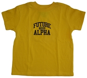 Future Alpha Phi Alpha Screen Printed T-shirt in Gold