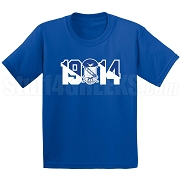 Phi Beta Sigma Screen Printed T-Shirt with Crest and Founding Year, Royal Blue