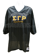 Sigma Gamma Rho Greek Letter Football Jersey with Organization Name, Black