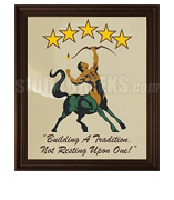 Iota Phi Theta Framed Artwork of Centaur and Motto under Arched Stars
