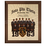 Iota Phi Theta Framed Artwork with Crest, Founding Year, and Founding Fathers