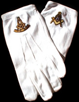 Mason Gloves with Gold Emblem