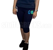 GQ! FIT Embroidered Knee Length Fitness Pants